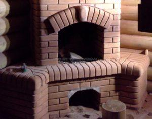 Печь-камин с вензелем