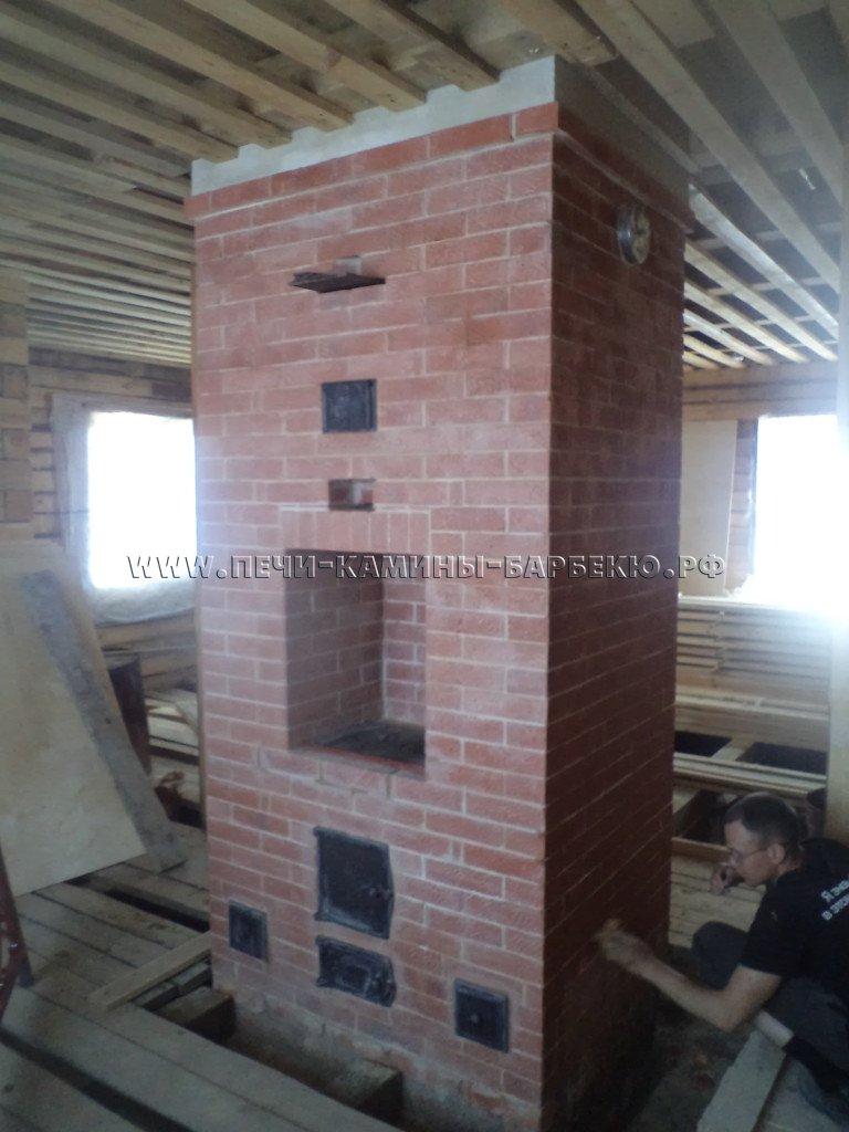 Печь - камин двухуровневая  - первый этаж