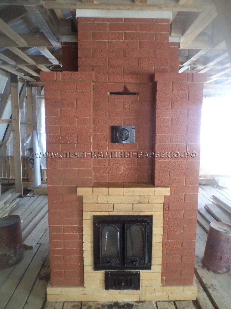 Печь - камин двухуровневая  - второй этаж