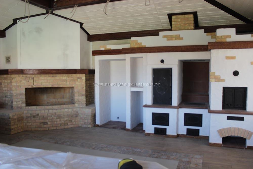 Барбекю — печной комплекс с камином, плитой, духовкой